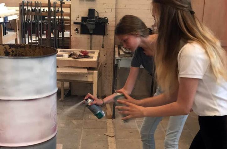 Hondsrug leerlingen gaan afval scheiden