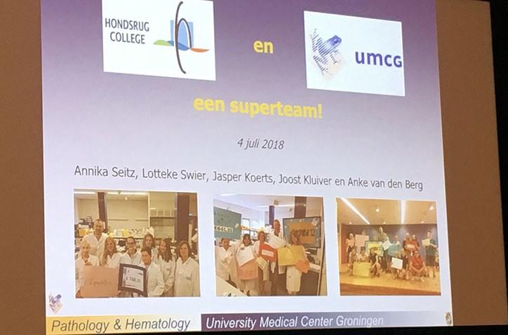 Leerlingen op werkbezoek bij kankeronderzoekcentrum Groningen