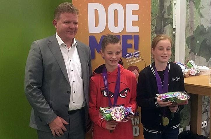 Nick Jansen uit HV1B sinds deze week Held van Emmen