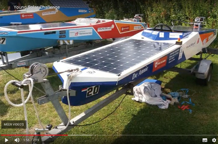Leerling maakt vlog over De Young Solar Challenge