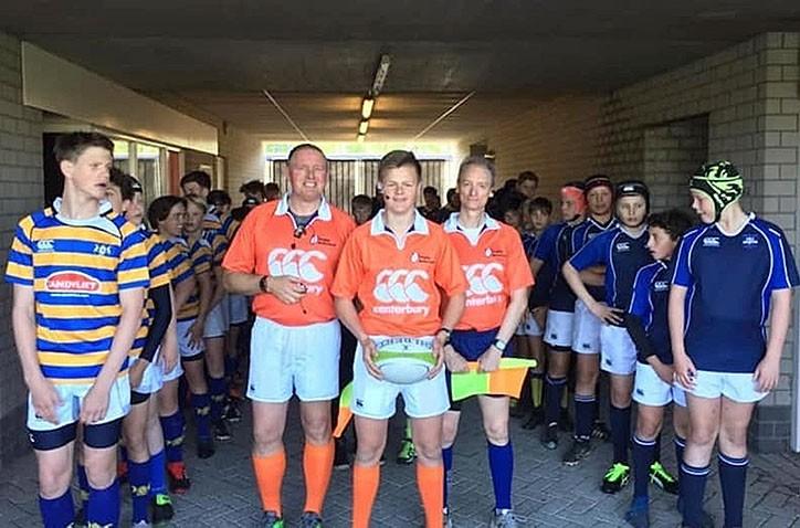 Jongste rugby scheidsrechter van Nederland zit op het Hondsrug College